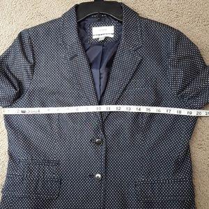 J. Crew Jackets & Coats - Classic Schoolboy Blazer Indigo Dot EUC!